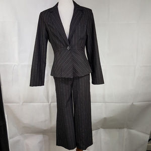 Robert Louis Suit Jacket Blazer Crop Pant  M 6